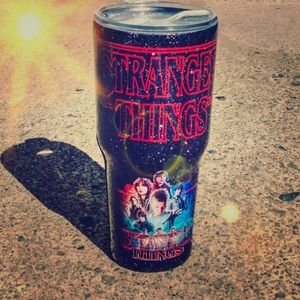 Stranger Things glitter Tumbler 30oz
